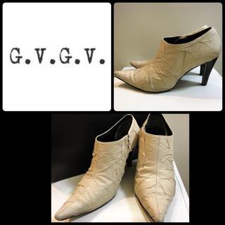 ジーヴィジーヴィ(G.V.G.V.)のg.v.g.v.♡ベージュレザー デザイン ブーティ♡(ブーティ)