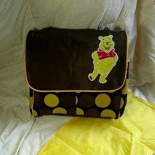 ディズニー(Disney)の新品送料込 マザーズバッグ ポケット一杯 ドリンクホルダー ディズニー プーさん(マザーズバッグ)