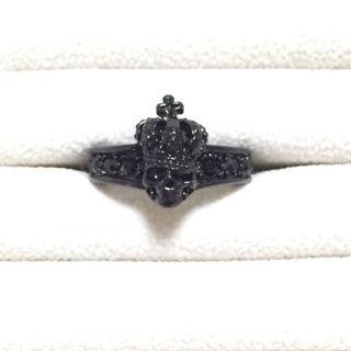 ジャスティン風 指輪 ブラック メンズ レディース ユニセックス(リング(指輪))