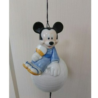 ディズニー(Disney)の【訳あり・美品】 ミッキー風鈴   ディズニー風鈴  陶器風鈴  ミッキー(風鈴)