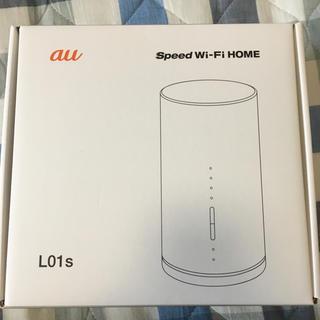 エーユー(au)の【美品】WiMax Speed Wi-Fi HOME L01s(PC周辺機器)