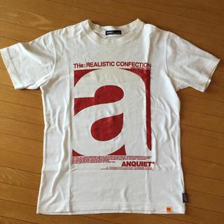 アンクワイエット(ANQUIET)のANQUIET 白色Tシャツ(Tシャツ(半袖/袖なし))
