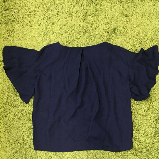 GU(ジーユー)のGU ドレープブラウス (ネイビー) レディースのトップス(シャツ/ブラウス(半袖/袖なし))の商品写真