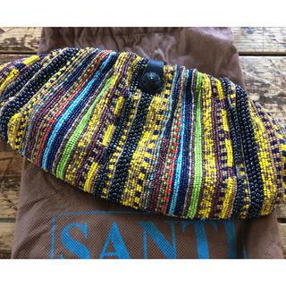サンティ(SANTI)のSANTI TONORROWLAND購入 ビーズクラッチバッグ チェーン付(クラッチバッグ)