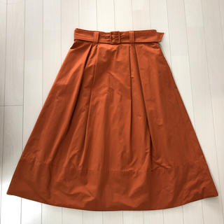 オペーク(OPAQUE)のベルト付きミモレ丈スカート(ロングスカート)