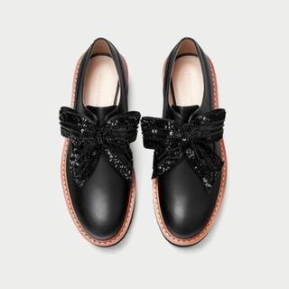 ザラ(ZARA)のZARA 厚底2wayフラットシューズ (ローファー/革靴)