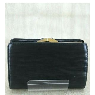 ルイヴィトン(LOUIS VUITTON)のルイヴィトン⚠エピ折り財布半分⚠がま口 ガマ口⚠ポルトモネ ヴィエノワ黒ブラック(財布)
