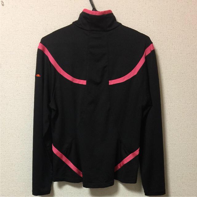 dada4f8ebbf7aa ellesse(エレッセ)のellesse◇エレッセ レディース 長袖トップス 黒×ピンク Sサイズ