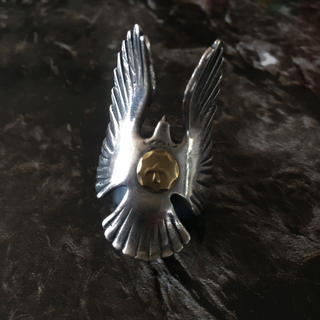 ゴローズ(goro's)のゴローズ goro's イーグルリング 金メタル リング フェザー 金(リング(指輪))