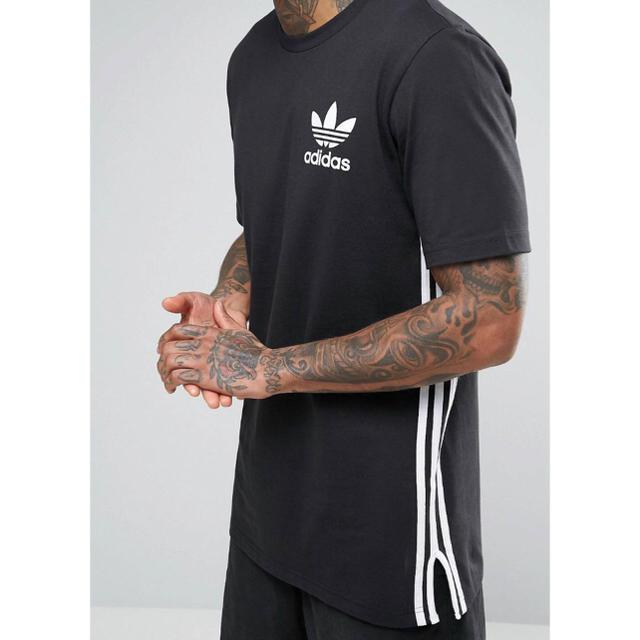 adidas(アディダス)の【 Sサイズ】adidas 新品タグ付 ロングライン Tシャツ ブラック メンズのトップス(Tシャツ/カットソー(半袖/袖なし))の商品写真
