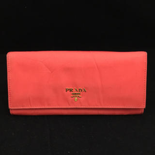 プラダ(PRADA)のプラダ オレンジナイロン 長財布(財布)