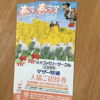 マザー牧場 入場ご招待券 2枚(遊園地/テーマパーク)