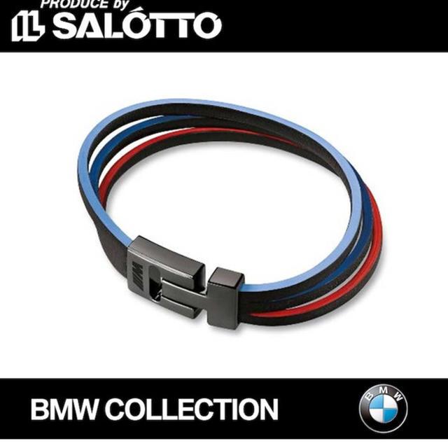 BMW(ビーエムダブリュー)のBMW レザーブレスレット 自動車/バイクの自動車(車外アクセサリ)の商品写真
