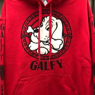 ガルフィー(GALFY)のガルフィー ストリート プルパーカー レッド 新品未使用品(パーカー)