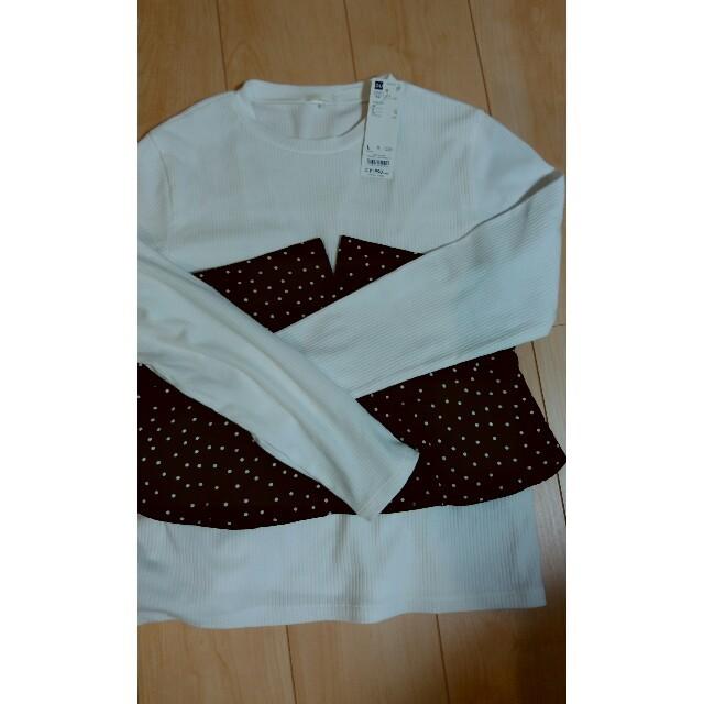 GU(ジーユー)のGU ビスチェコンビT ドット レディースのトップス(Tシャツ(長袖/七分))の商品写真