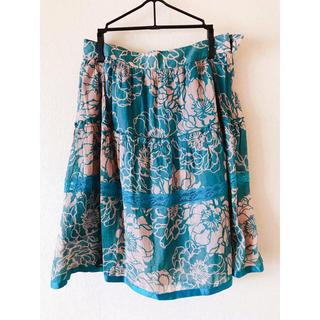 デンドロビウム(DENDROBIUM)の花柄スカート(ひざ丈スカート)