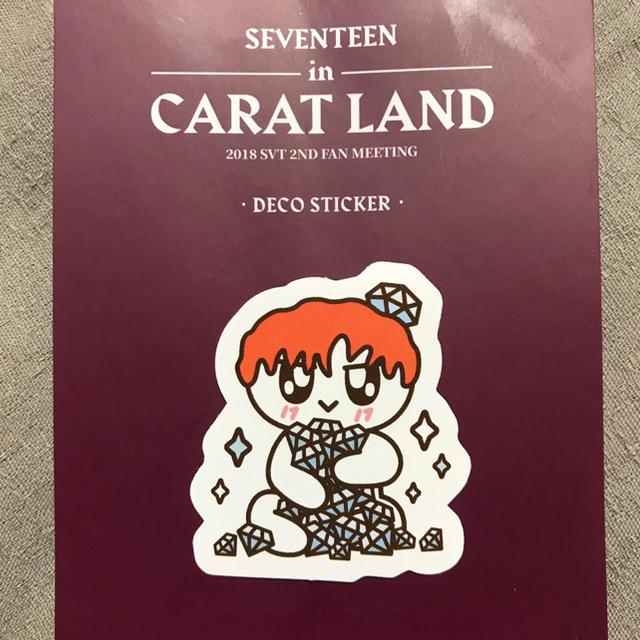SEVENTEEN(セブンティーン)のCARAT LAND ステッカー エスクプス エンタメ/ホビーのCD(K-POP/アジア)の商品写真