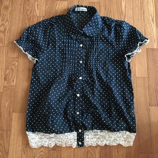 シマムラ(しまむら)のしまむら ドットシャツ(Tシャツ(半袖/袖なし))