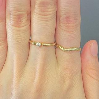 ティファニー(Tiffany & Co.)の4℃  ダイヤ  リング  K18YG K18 18K 正規品ゴールド イエロー(リング(指輪))