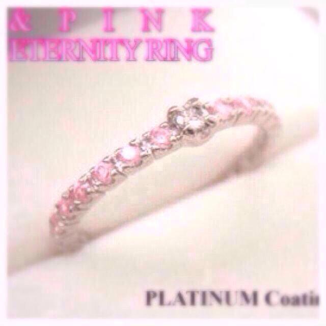 【鑑定書付】ダイヤモンドリング ピンク レディースのアクセサリー(リング(指輪))の商品写真