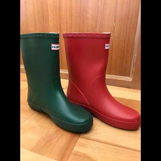 ハンター(HUNTER)のハンター  UK1  21 20 長靴 レインブーツ キッズ 新品 子供(長靴/レインシューズ)