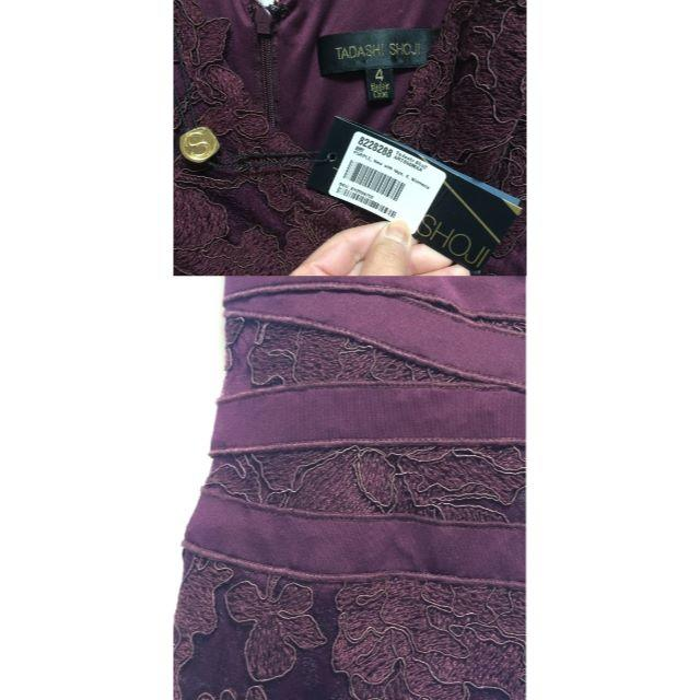TADASHI SHOJI(タダシショウジ)のbabyforyou様専用 Tadashi shoji 刺繍レースストレッチ レディースのワンピース(ひざ丈ワンピース)の商品写真