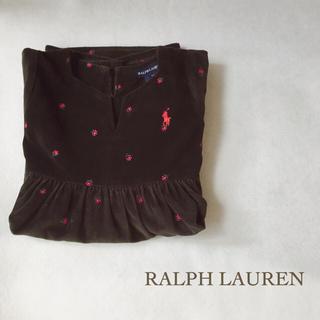 ラルフローレン(Ralph Lauren)のラルフローレン キッズ ベロア ワンピース フォーマル 4T / 110(ワンピース)