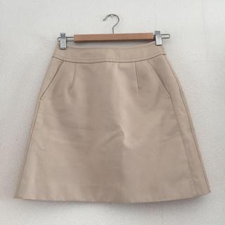 ルシェルブルー(LE CIEL BLEU)のLE CIEL BLEU ベージュスカート(ひざ丈スカート)