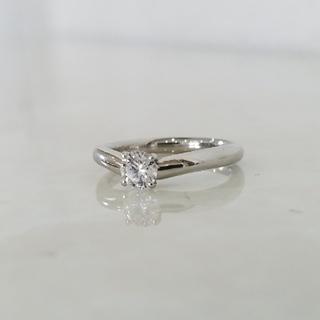 大粒 ダイヤモンド プラチナ リング 指輪(リング(指輪))