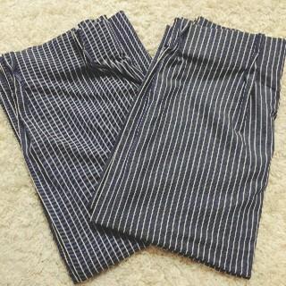 ムジルシリョウヒン(MUJI (無印良品))の無印良品MUJIデニムストライプカーテン100×200(カーテン)