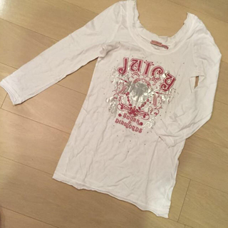 ジューシークチュール(Juicy Couture)のJuicyCouture 長袖 Sサイズ Tシャツ 白(Tシャツ(長袖/七分))