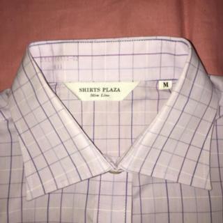 シャツ(shirts)の美品 形態安定  薄紫色長袖シャツ(シャツ/ブラウス(長袖/七分))
