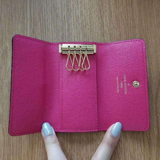 ルイヴィトンモノグラムキーケース4連ピンク