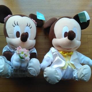 ディズニー(Disney)のミッキー&ミニーぬいぐるみ 新郎新婦(その他)