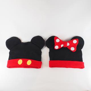 ディズニー(Disney)のディズニーストア ミッキー&ミニー ニット帽 お揃い ペア(キャラクターグッズ)