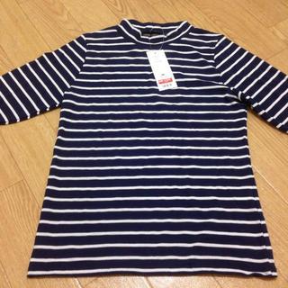 ジーユー(GU)のGUハイネックT♡ボーダー(Tシャツ(長袖/七分))