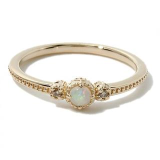 ノジェス(NOJESS)のNOJESS ダイヤオパールピンキーリング(リング(指輪))