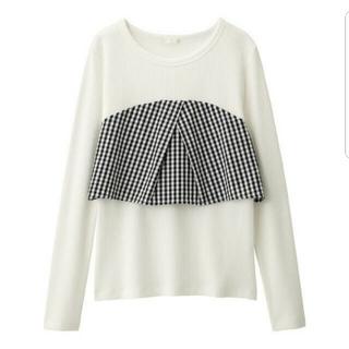 ジーユー(GU)のビスチェレイヤード風コンビカットソー【GU】(Tシャツ(長袖/七分))