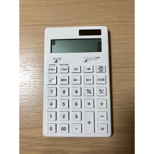 MUJI (無印良品)(ムジルシリョウヒン)の無印良品 電卓 インテリア/住まい/日用品のオフィス用品(オフィス用品一般)の商品写真