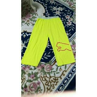 プーマ(PUMA)のPuma ステテコ 色鮮やか 蛍光色 黄色!①(ジャージ)