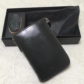 コルボ(Corbo)の【良品】コルボ フェイスブライドルレザーシリーズ 高級モデル ダークグリーン (折り財布)