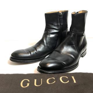 グッチ(Gucci)の正規品◆グッチ サイドゴア サイドジップブーツ レザーソール 7(ブーツ)
