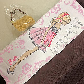 バービー(Barbie)のBarbie バスタオル♡(タオル/バス用品)