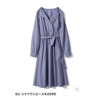 ジーユー(GU)のGU シャツワンピース(ひざ丈ワンピース)