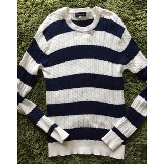 アンスクウィーキー(UNSQUEAKY)のセーター  メンズ  ボーダー  薄め(ニット/セーター)