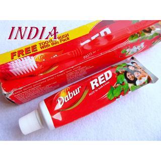【未使用】インド 話題性バツグン!カレー味の歯磨き粉 RED(歯磨き粉)
