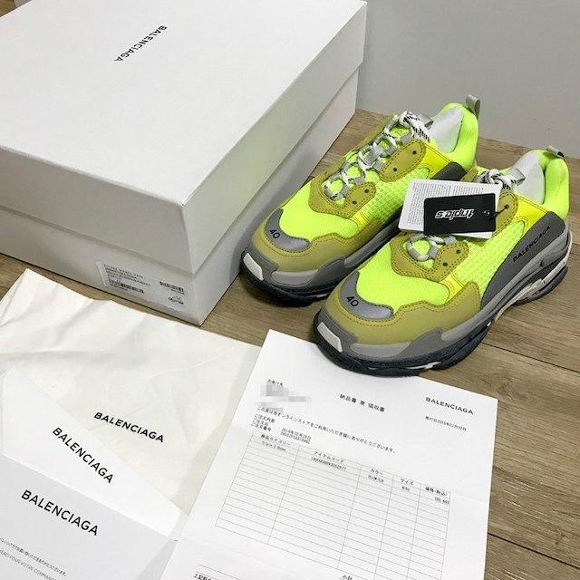Balenciaga(バレンシアガ)の【確実正規】40 Balenciaga Triple S トリプルS イエロー レディースの靴/シューズ(スニーカー)の商品写真