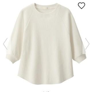 ジーユー(GU)のGU ワッフルラグランスリーブ(五分袖)(Tシャツ(長袖/七分))