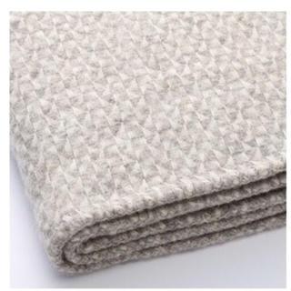 ムジルシリョウヒン(MUJI (無印良品))の無印 ダブルサイズ ウール 100パーセント デザイン 毛布 ブランケット(毛布)