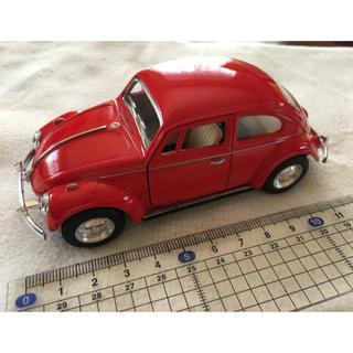 フォルクスワーゲン(Volkswagen)のmilkpan2様専用  ビートル赤黒2台(ミニカー)
